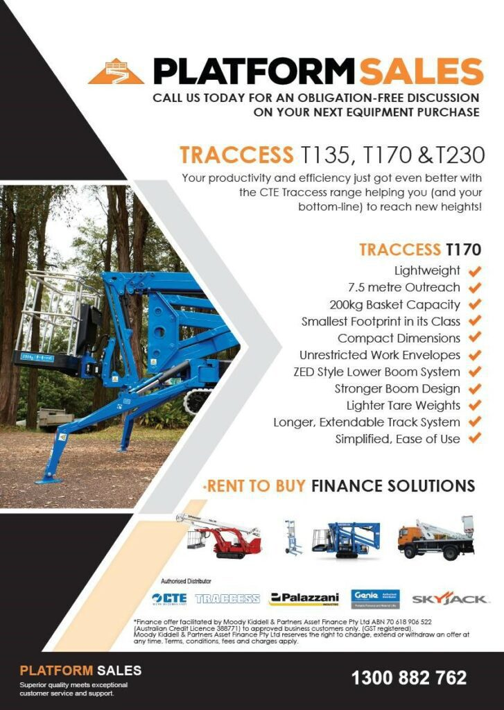 But traccess machinery australia spider lifts